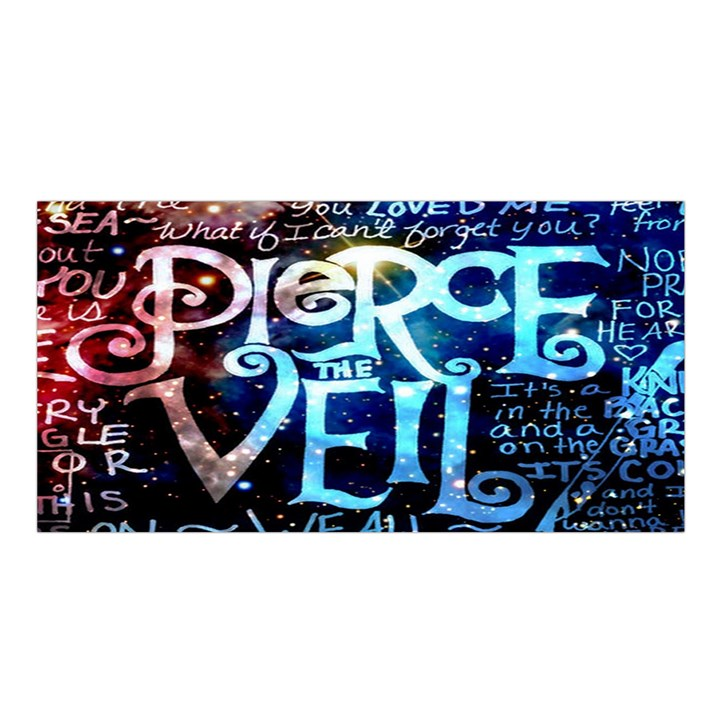 Pierce The Veil Quote Galaxy Nebula Satin Shawl