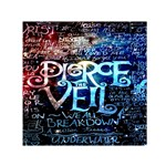 Pierce The Veil Quote Galaxy Nebula Small Satin Scarf (Square) Front
