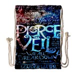 Pierce The Veil Quote Galaxy Nebula Drawstring Bag (Large) Front