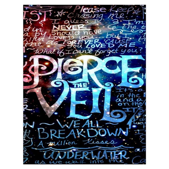 Pierce The Veil Quote Galaxy Nebula Drawstring Bag (Large)