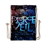 Pierce The Veil Quote Galaxy Nebula Drawstring Bag (Small) Front