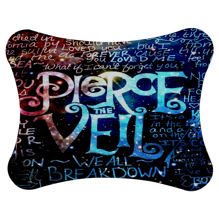 Pierce The Veil Quote Galaxy Nebula Jigsaw Puzzle Photo Stand (Bow)
