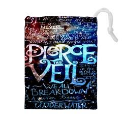Pierce The Veil Quote Galaxy Nebula Drawstring Pouches (extra Large)