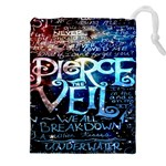 Pierce The Veil Quote Galaxy Nebula Drawstring Pouches (XXL) Front
