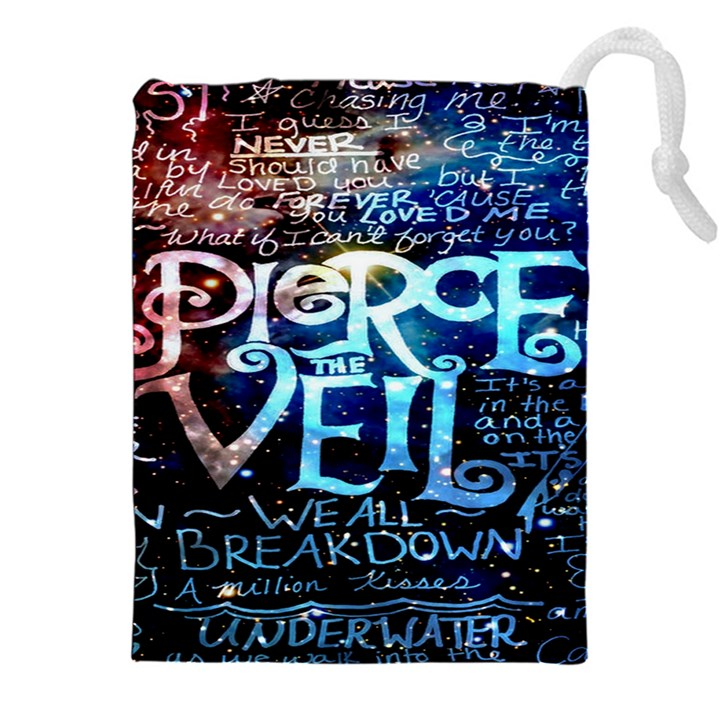 Pierce The Veil Quote Galaxy Nebula Drawstring Pouches (XXL)