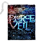 Pierce The Veil Quote Galaxy Nebula Drawstring Pouches (XXL) Back