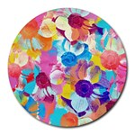 Anemones Round Mousepads Front