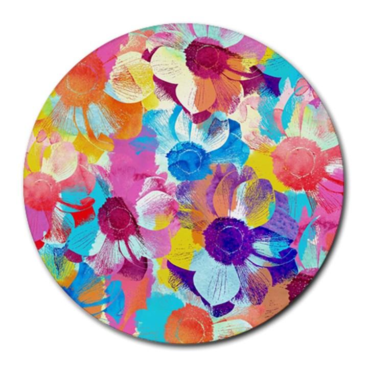 Anemones Round Mousepads