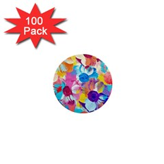 Anemones 1  Mini Buttons (100 pack)