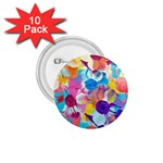 Anemones 1.75  Buttons (10 pack) Front