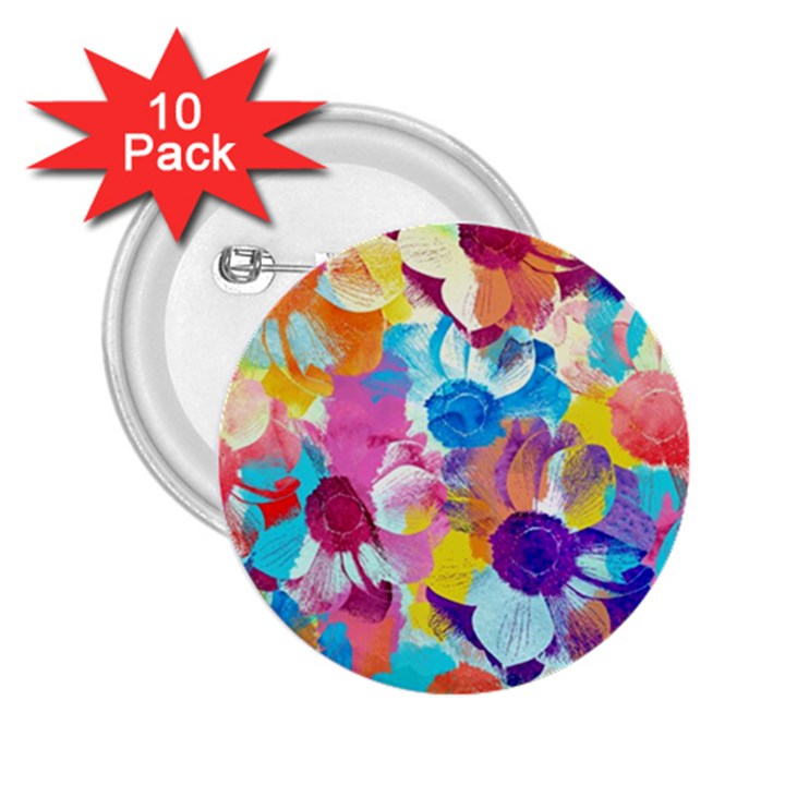 Anemones 2.25  Buttons (10 pack)