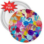 Anemones 3  Buttons (10 pack)  Front