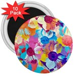 Anemones 3  Magnets (10 pack)  Front