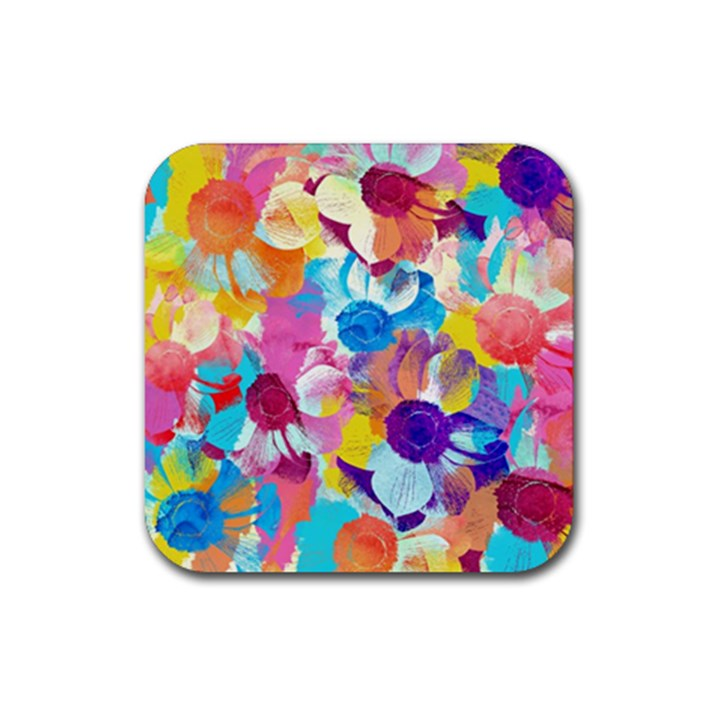 Anemones Rubber Coaster (Square)