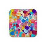 Anemones Rubber Square Coaster (4 pack)  Front