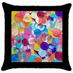 Anemones Throw Pillow Case (Black) Front
