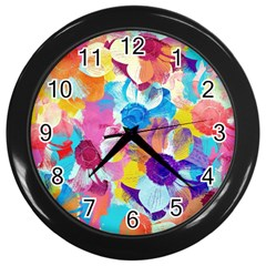 Anemones Wall Clocks (black)