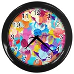 Anemones Wall Clocks (Black) Front