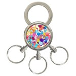 Anemones 3-Ring Key Chains Front