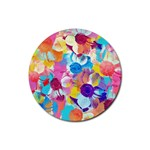 Anemones Rubber Round Coaster (4 pack)  Front