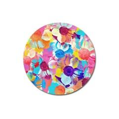 Anemones Magnet 3  (Round)