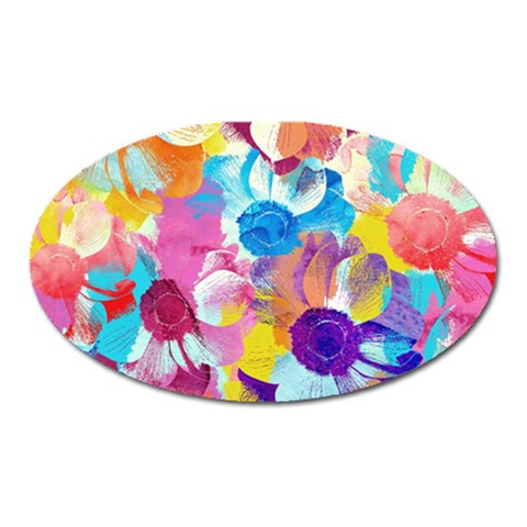 Anemones Oval Magnet