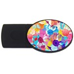 Anemones USB Flash Drive Oval (1 GB)  Front
