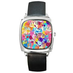 Anemones Square Metal Watch