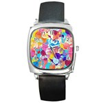 Anemones Square Metal Watch Front