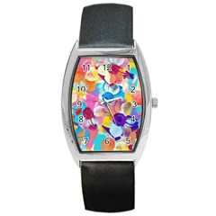 Anemones Barrel Style Metal Watch