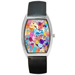 Anemones Barrel Style Metal Watch Front