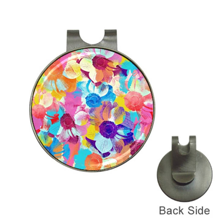 Anemones Hat Clips with Golf Markers