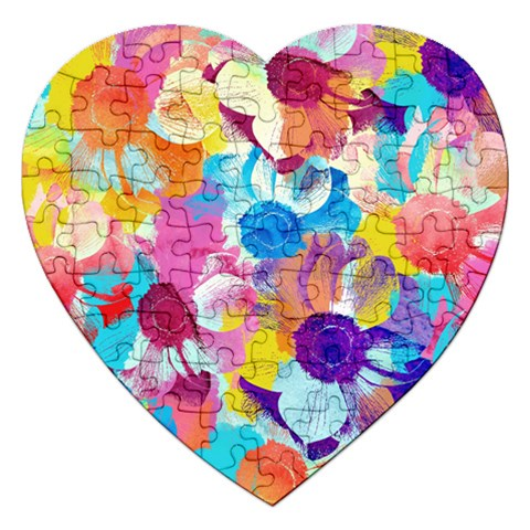 Anemones Jigsaw Puzzle (Heart)