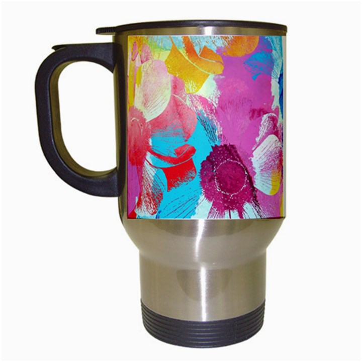 Anemones Travel Mugs (White)