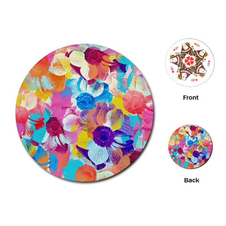 Anemones Playing Cards (Round)