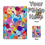 Anemones Playing Cards 54 Designs  Front - Heart4