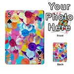 Anemones Playing Cards 54 Designs  Front - Spade5