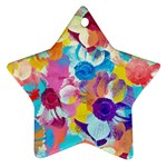 Anemones Star Ornament (Two Sides)  Back