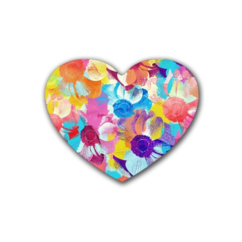 Anemones Rubber Coaster (Heart)
