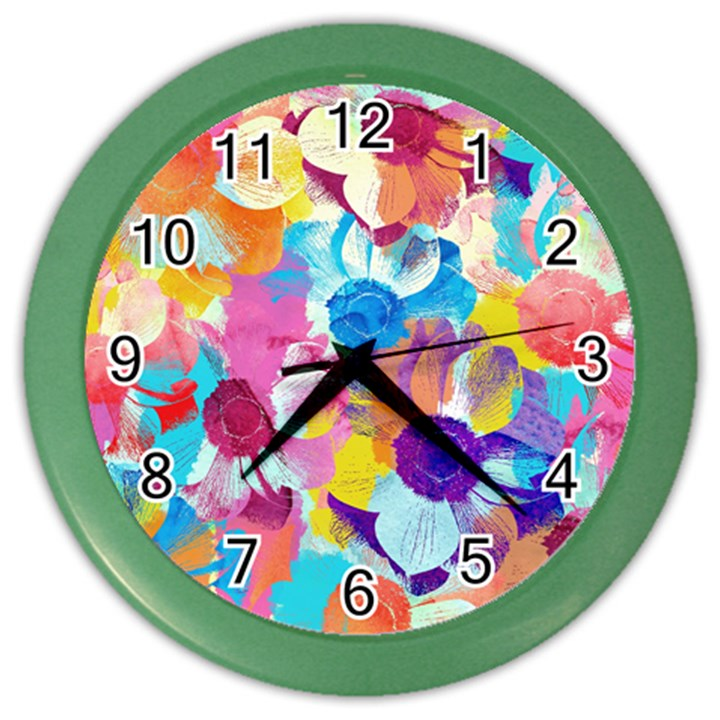 Anemones Color Wall Clocks