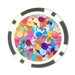 Anemones Poker Chip Card Guards Back