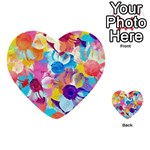 Anemones Multi-purpose Cards (Heart)  Front 45