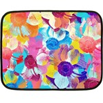 Anemones Double Sided Fleece Blanket (Mini)  35 x27 Blanket Front