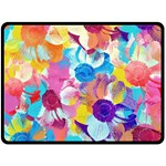 Anemones Fleece Blanket (Large)  80 x60 Blanket Front