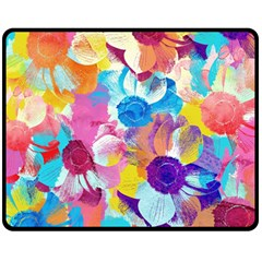 Anemones Fleece Blanket (Medium)