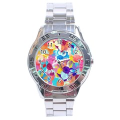 Anemones Stainless Steel Analogue Watch