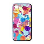 Anemones Apple iPhone 4 Case (Black) Front
