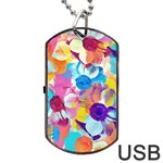 Anemones Dog Tag USB Flash (Two Sides)  Back