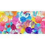 Anemones Twin Hearts 3D Greeting Card (8x4) Back