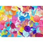 Anemones Peace Sign 3D Greeting Card (7x5) Back